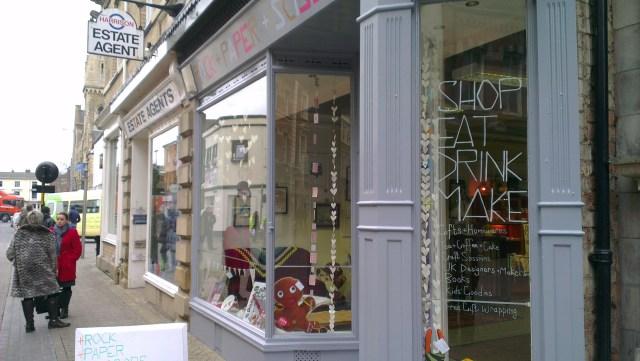 Rock Paper Scissors on Guildhall Street in Lincoln   Photo: Charlotte Reid