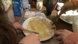 Gluten and soya milk pancakes | Photo: Jon Cresswell