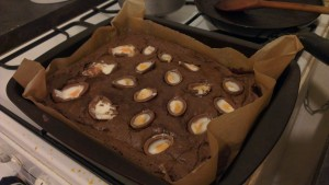 Creme egg brownies | Photo: Charlotte Reid