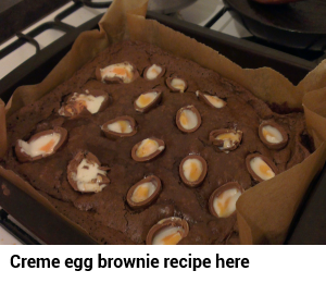 creme egg brownies ad